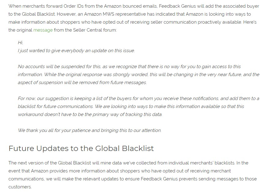 global blacklist feature explained