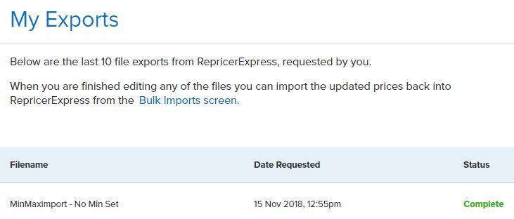 Repricer Express my exports