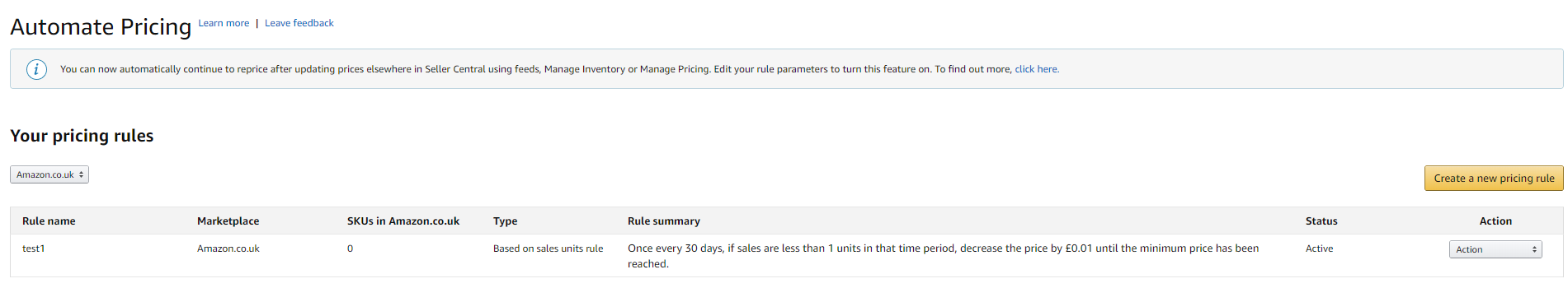 Amazon Automate Pricing