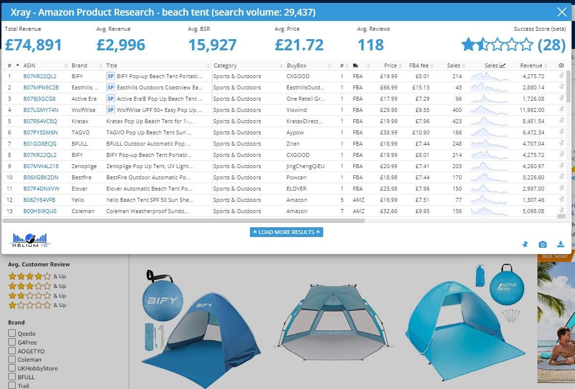 helium 10 xray results