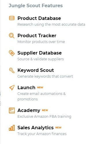 jungle scout product database