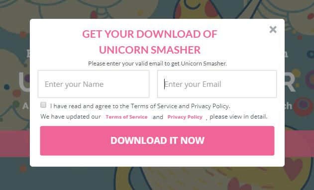 Unicorn Smasher Sign up