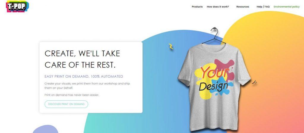 T-Pop_Print on Demand App_Shopify_eBusiness Boss