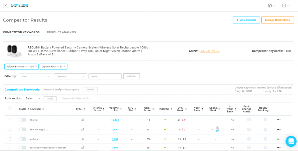 Viral Launch Competitor Intelligence Tool