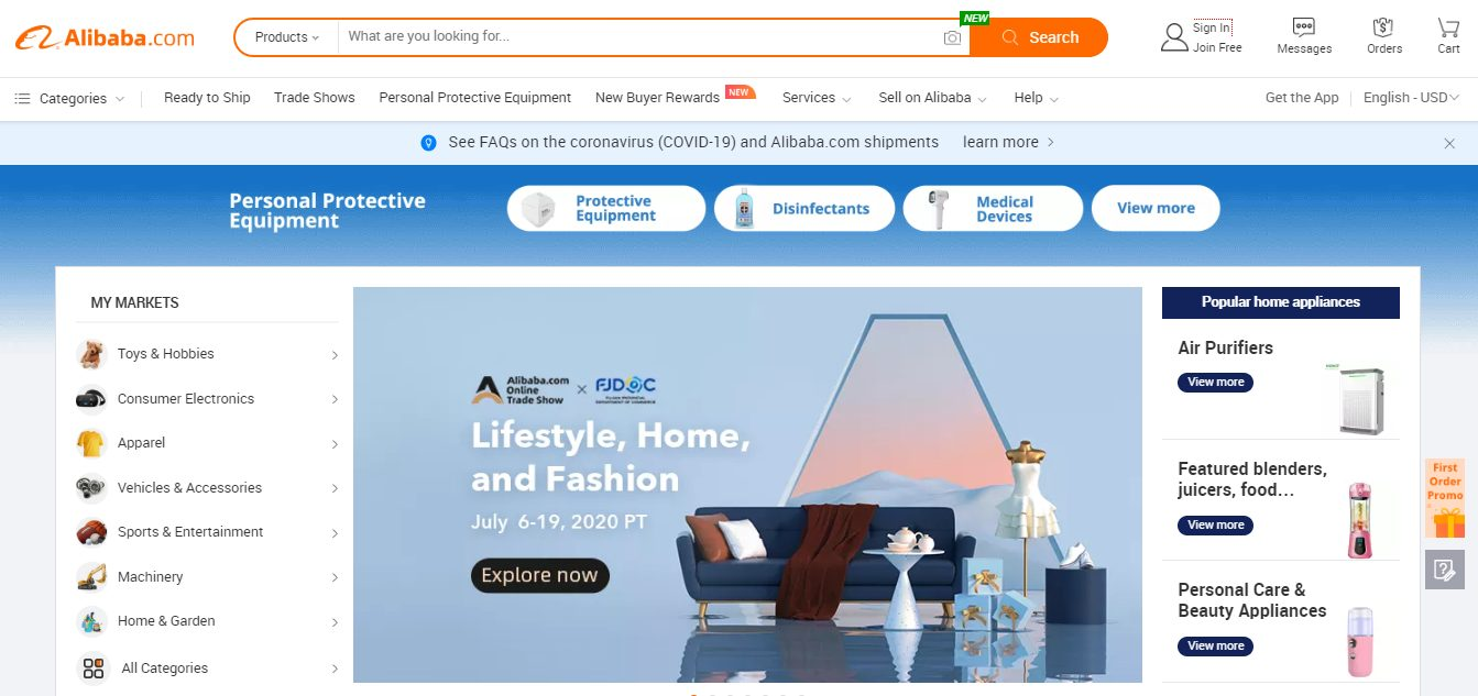Alibaba Selling Online