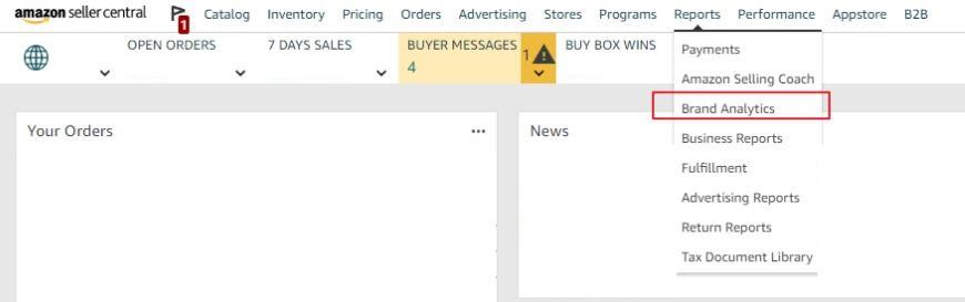Amazon Brand Analytics Seller Central_eBusiness Boss