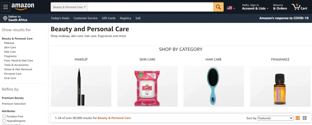 Amazon Product Categories