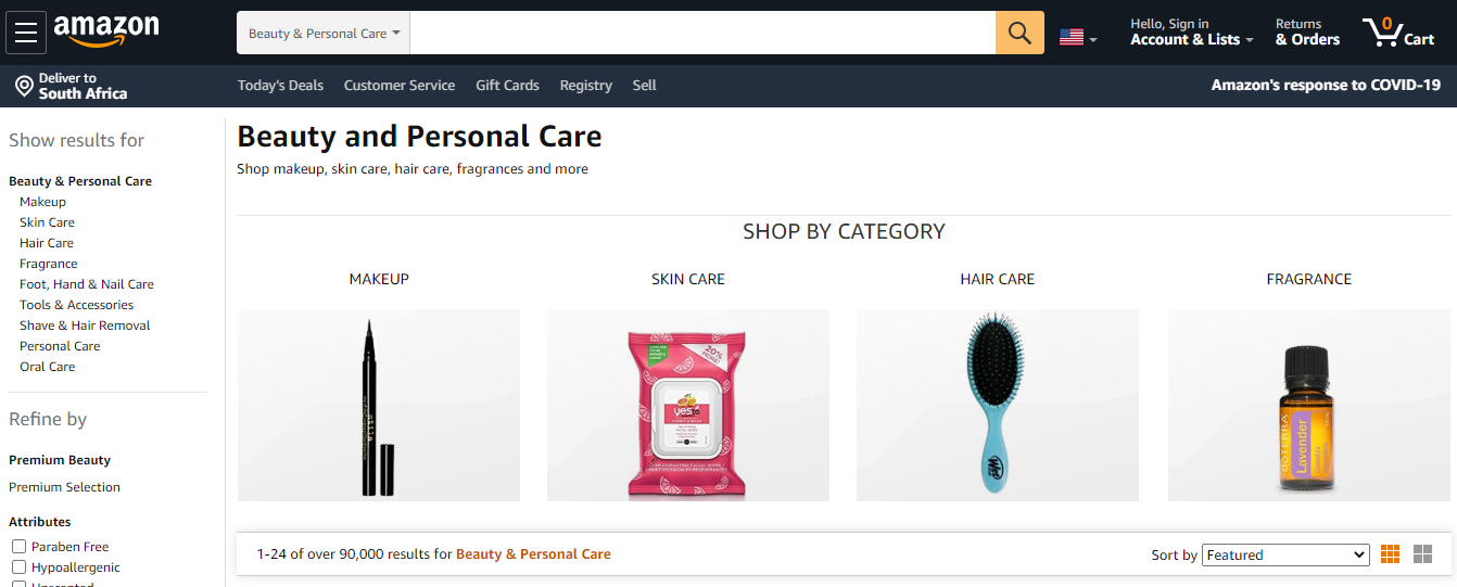 Amazon Product Categories