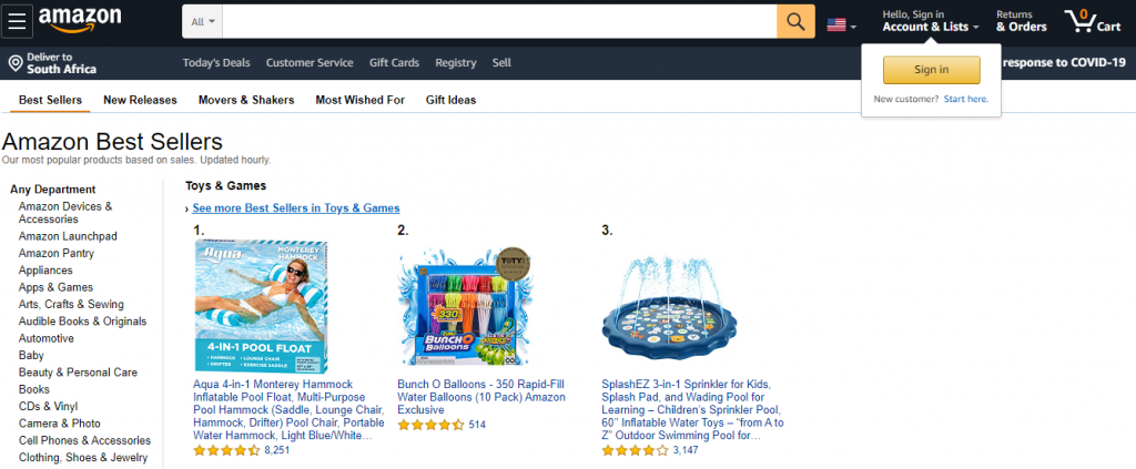 Amazon's Best Seller Lists