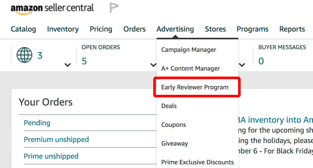 Join Amazon Early Reviewer Program