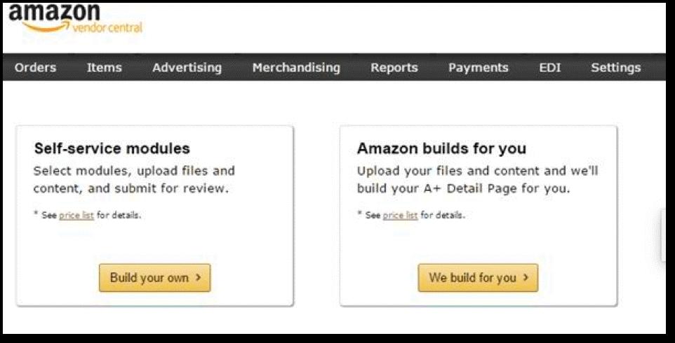 Amazon A+ Content Module Options