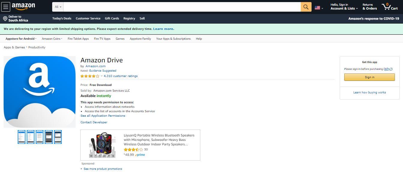 Amazon Drive App