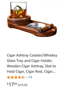 amazon cigar ashtray coaster