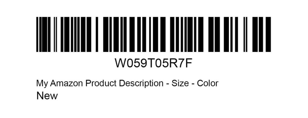 Amazon FBA Label