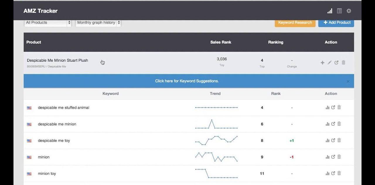 AMZ Tracker Keyword Ranker
