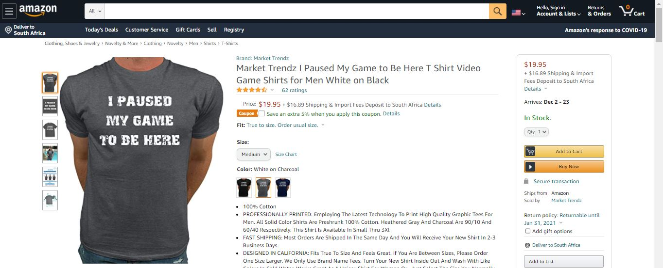 Merch by Amazon T-Shirt