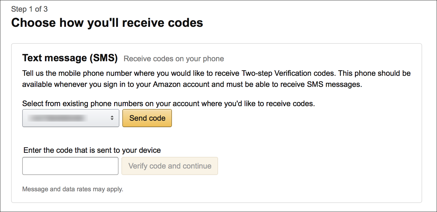 Amazon OTP and Verification Code