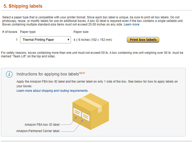how to print labels for amazon fba