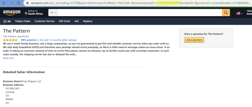 how to find an Amazon seller ID