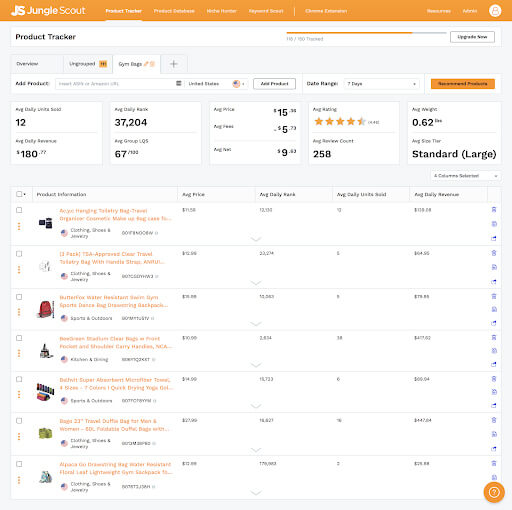 Jungle Scout Product Tracker