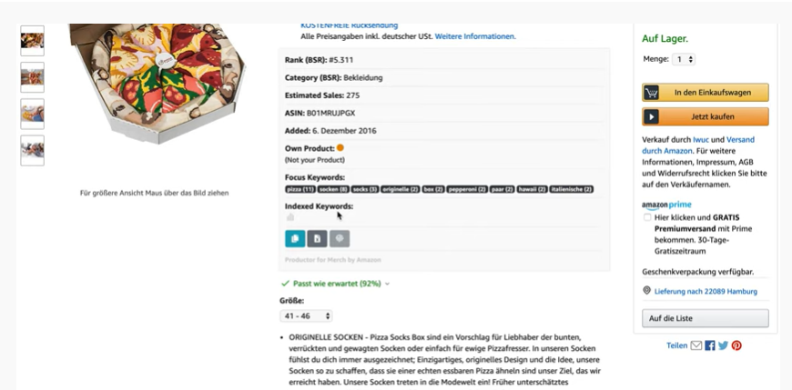Productor for Merch by Amazon Keyword Research